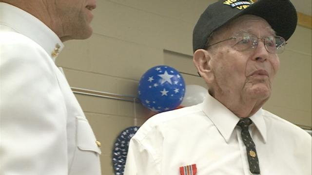 A local mariner who served his country gets surprised with overdue awards
