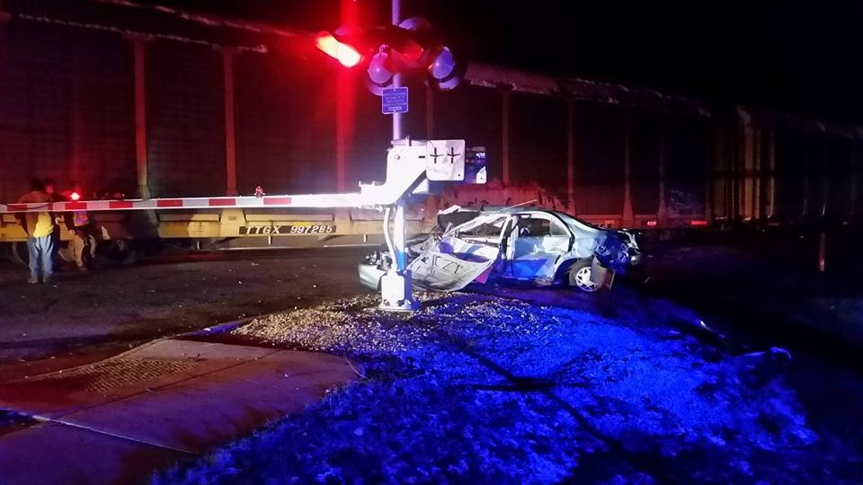 Sheriff: Driver arrested for OWI after train collides with car