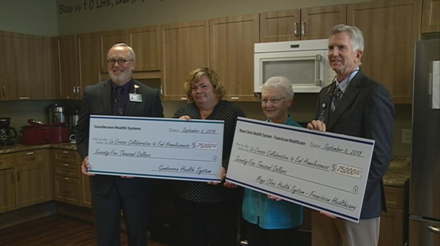 La Crosse's Gundersen, Mayo Clinic health systems donate $75,000 each to prevent homelessness