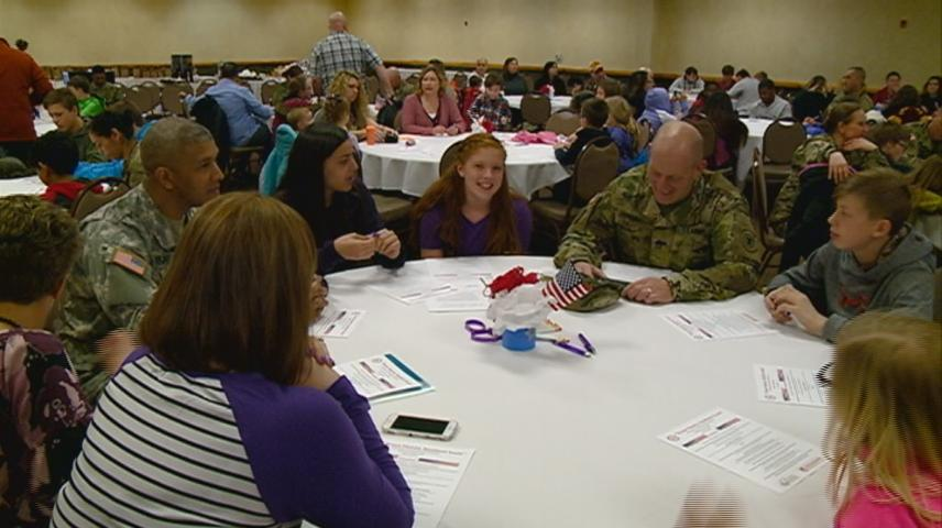 Students, families celebrate 'Military Child Month' with event in Tomah