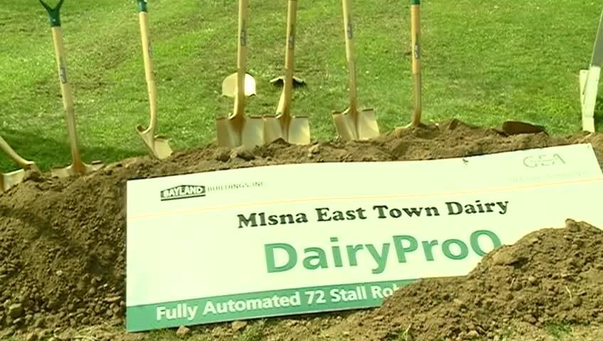 Cashton area farm breaks ground for fully automatic milking system