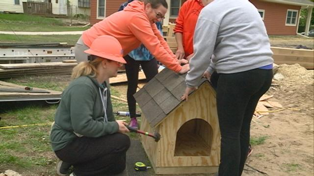 As part of national women build week, women of all ages from the community joined forces