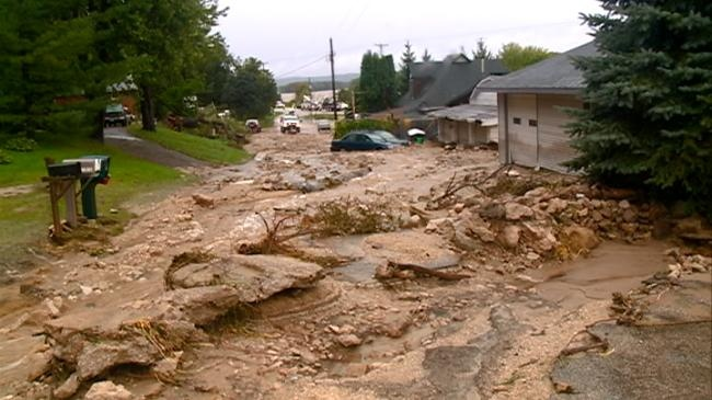 Bluffside community upside down after mudslide