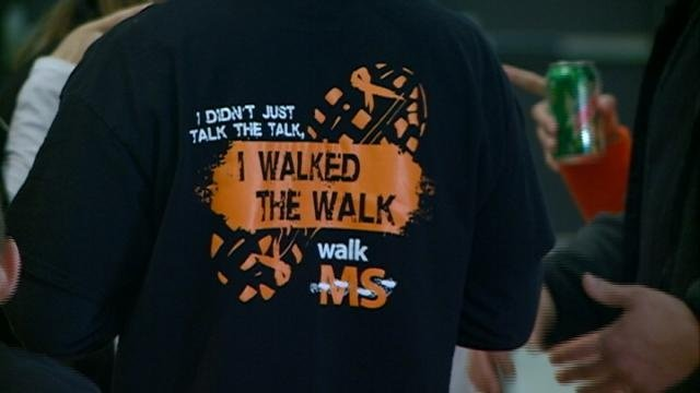 Patients, family walk to raise money for Multiple Sclerosis cure