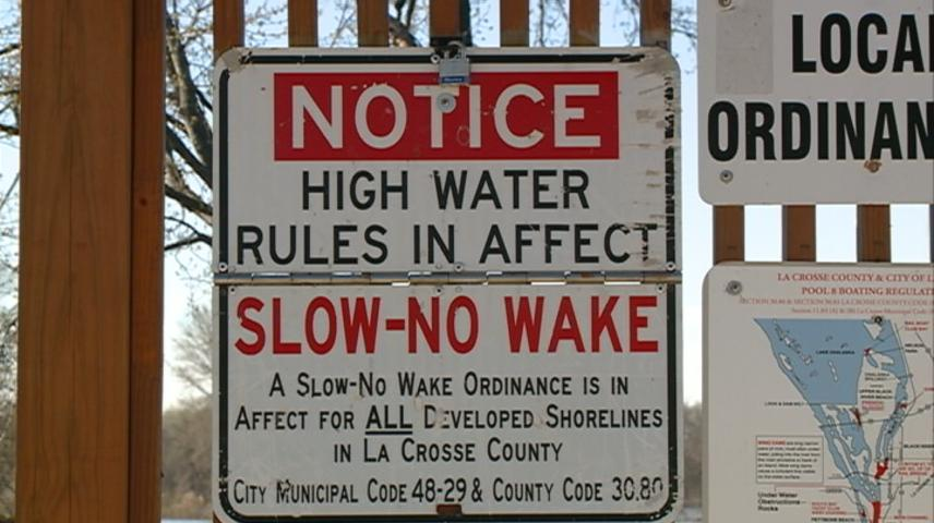 Slow, No Wake rules continue to be in effect in La Crosse County