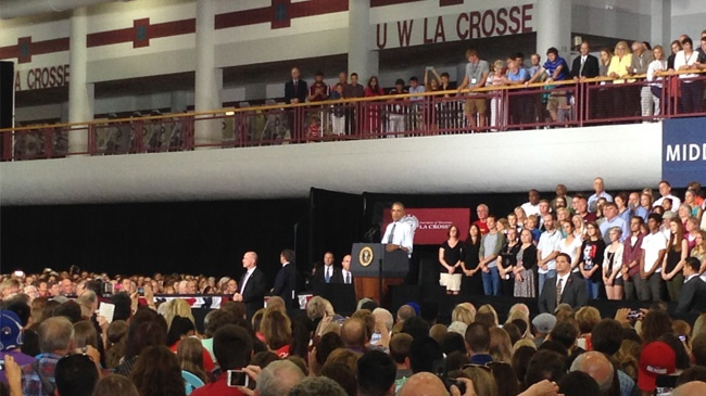 President Obama speaks in La Crosse
