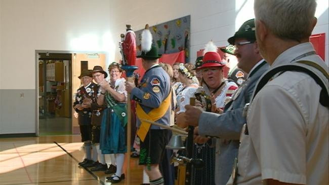 Oktoberfest Royal Family stops at Northside Elementary