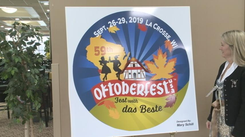 Oktoberfest reveals button design for its 2019 celebration in La Crosse
