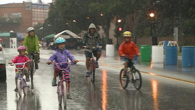 Open Streets La Crosse lets pedestrians dance in the street and sing in the rain