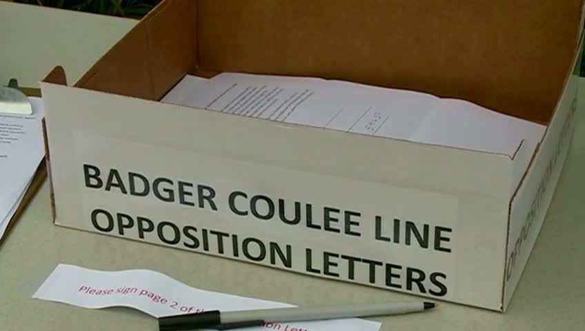 Large response to proposed Badger Coulee Line from residents