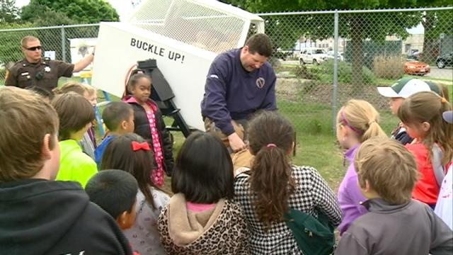 Hundreds of third-graders brush up on safety at 'Slide into Safety' event