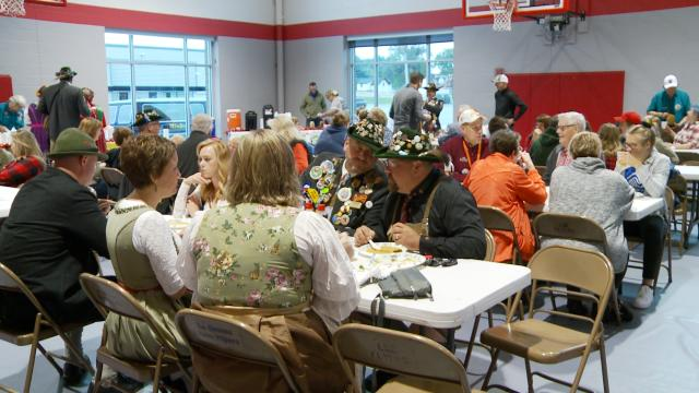 Hundreds got hearty start to Oktoberfest's final day at Parade Marshal Breakfast