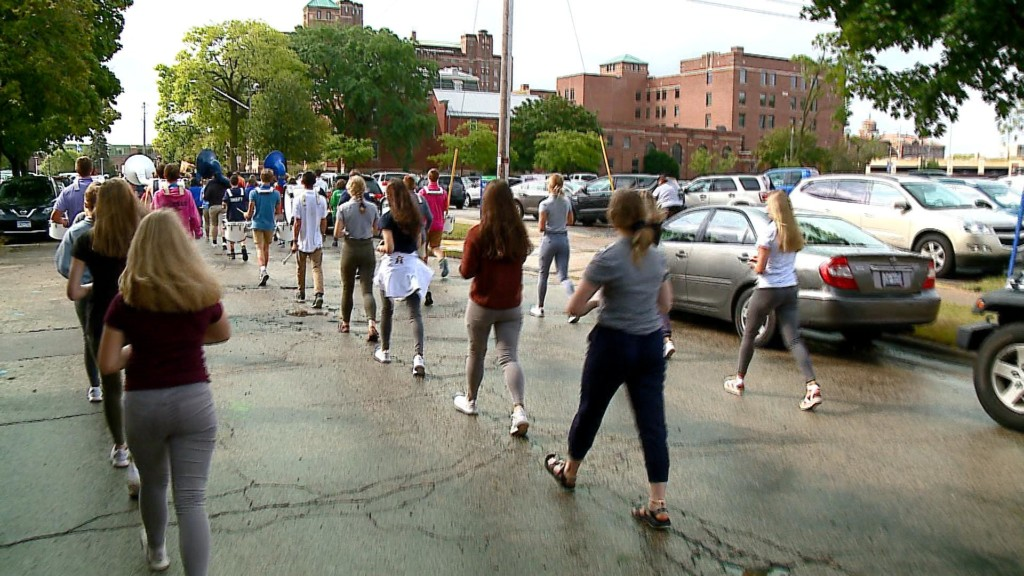 Marching bands prepare ahead of busy parade season