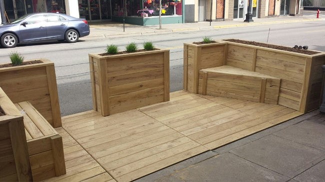 First parklet installed in La Crosse