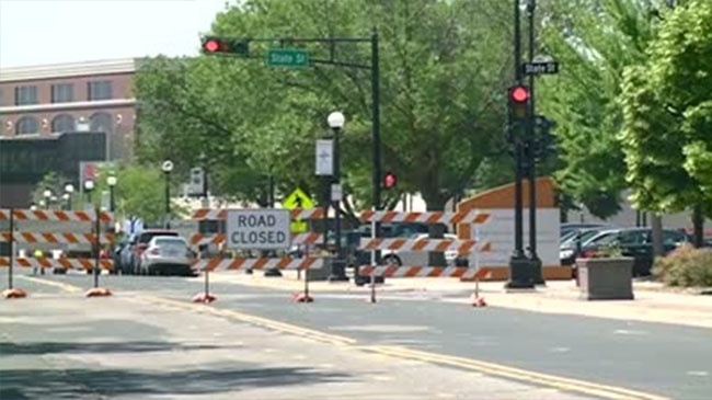 Downtown road closures Thursday and Friday for paving