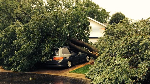 New round of storms cause damage in Dane County