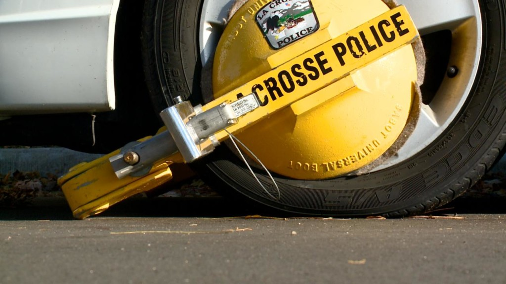 City of La Crosse Police Department booted more than 200 cars the last 12 months