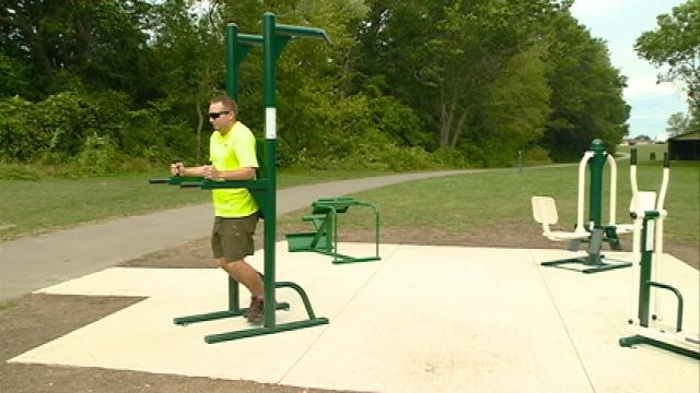New outdoor adult playground located in Onalaska