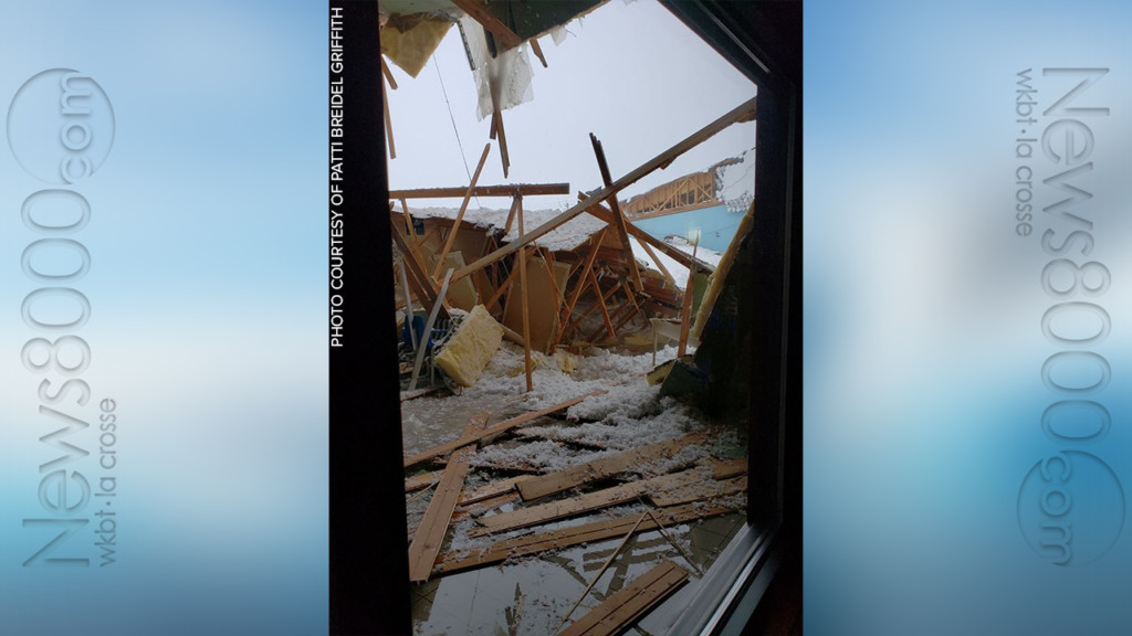 No injuries when snow causes Wisconsin hotel roof collapse