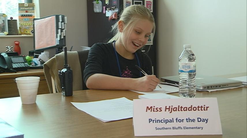 Southern Bluffs Elementary student becomes principal for the day