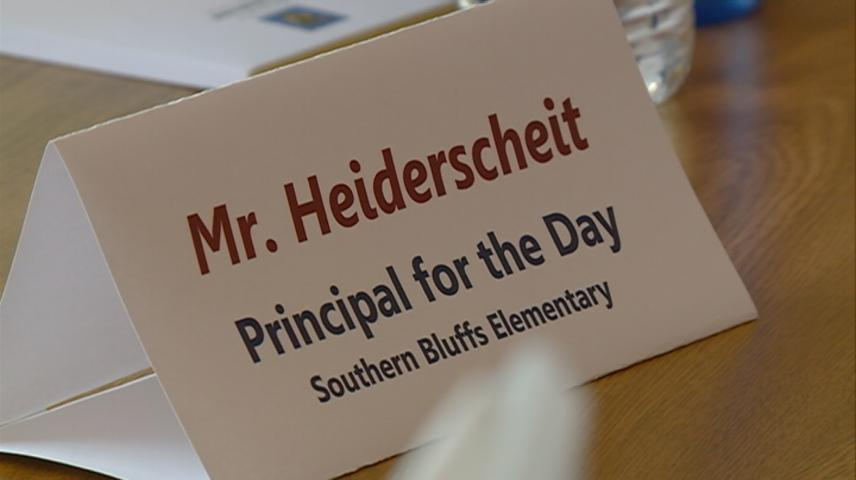 Southern Bluff Elementary student become Principal for the Day!