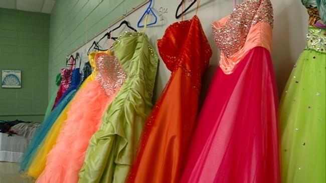 Prom dress resale helping students sell gowns