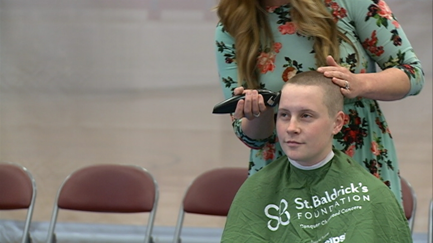 UW-La Crosse students give up their hair to raise funds to research childhood cancer