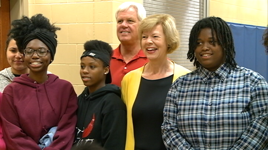 Tammy Baldwin visits Mathy Center