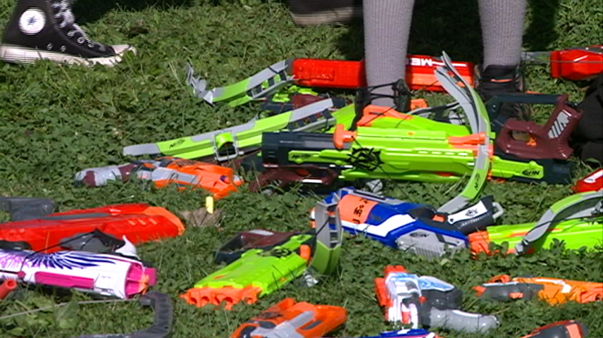 Nerf Battle Fighting For a Good Cause
