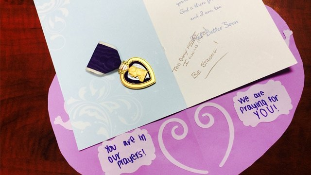 Donor gives military Purple Heart to Wis. stabbing victim