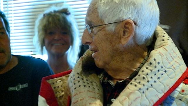 Local World War II veteran receives Quilt of Valor