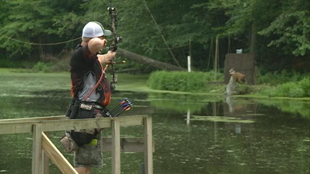 An archery shoot traveling across the country finishes its stop in our area