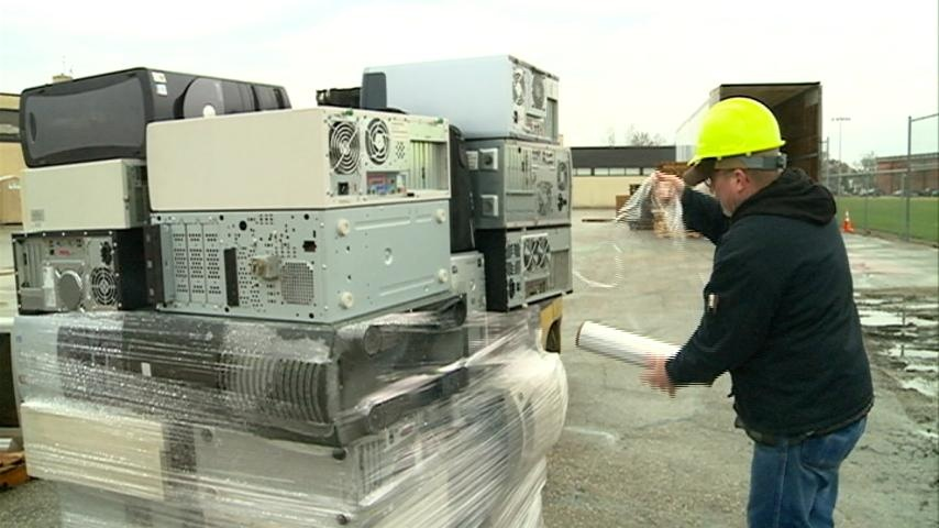 An e-cycling event featured at this year's Earth Fair