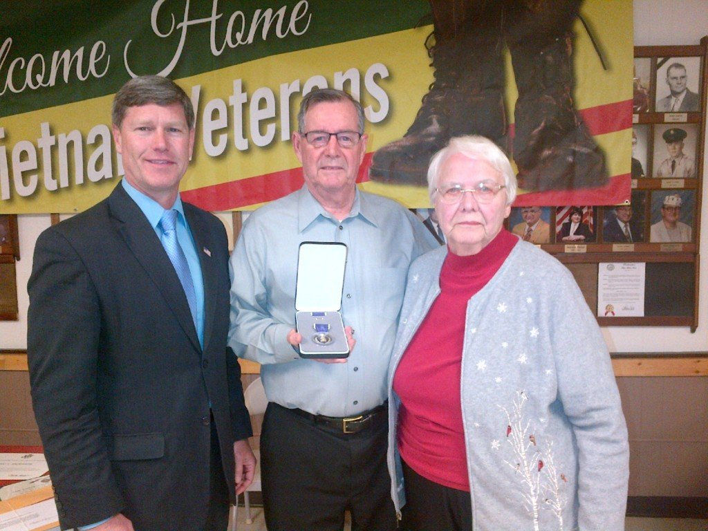 Area veteran receives large honor after 65 years