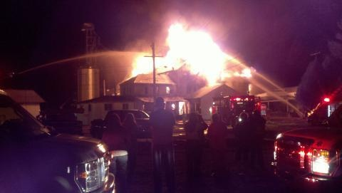 Whitehall feed mill destroyed by fire