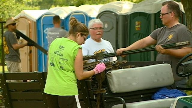 Riverfest clean-up leads to thoughts of next year