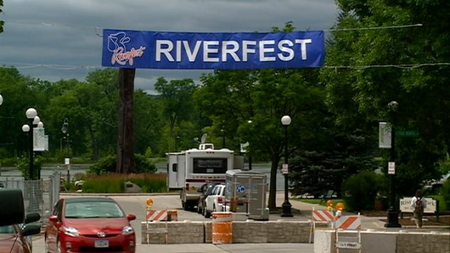 Riverfest prep slowed by weather, doesn't stop volunteers