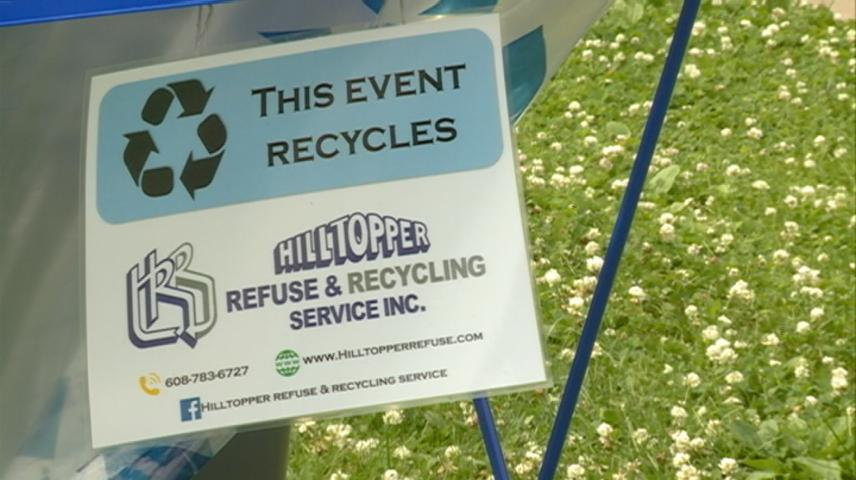 Recycling up at Riverfest in La Crosse
