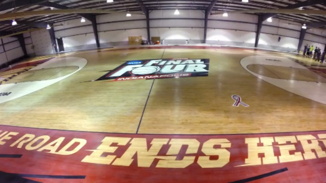 Wisconsin man installs Final Four court, sees 'omen' in colors