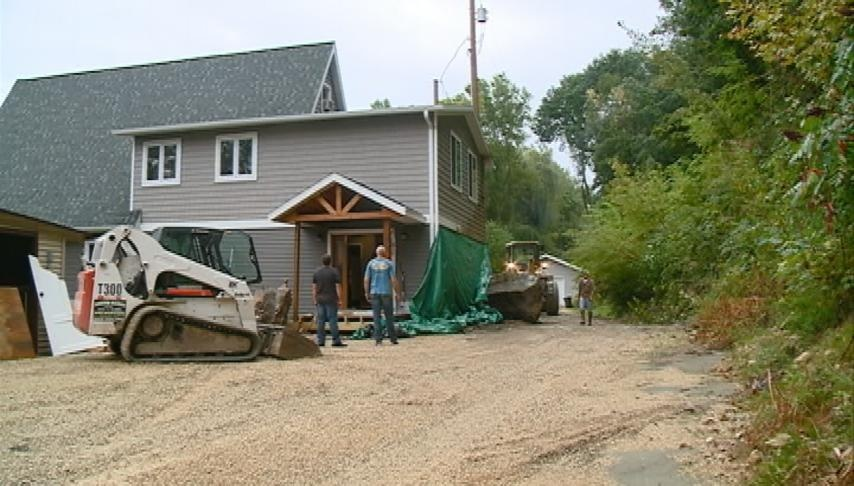 Brownsville home hit by rockslide