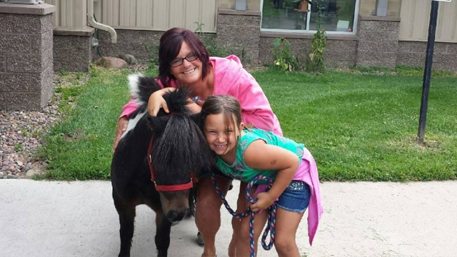 Miniature horse adopted from Coulee Region Humane Society