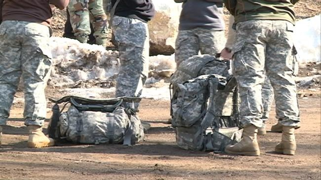 Veterans backpack area bluffs to raise awareness for PTSD