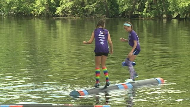 A local log rolling competition wraps up with a round for rolling enthusiasts
