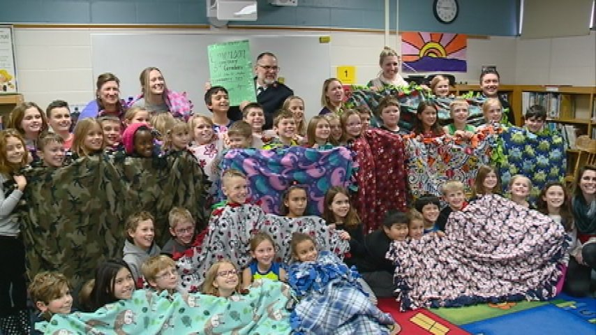 Third graders learn importance of giving with gift to Salvation Army