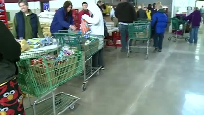 Distribution Day for the Salvation Army