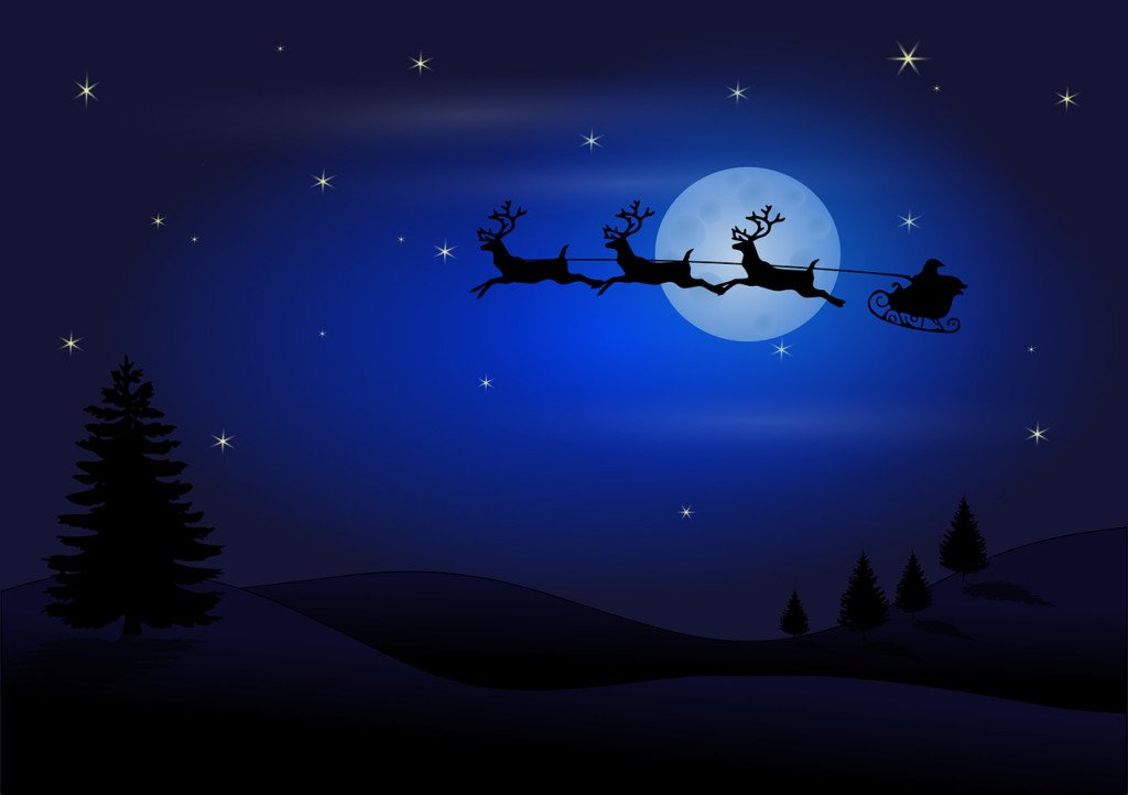 Track Santa as he makes his way around the world
