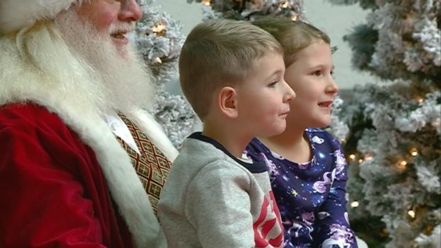 Santa Claus comes to town, meets area kids at mall