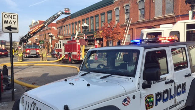 Crews fight fire in downtown La Crosse
