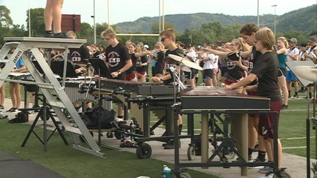 High School Band Day amplifies the Screaming Eagles Marching Band's sound
