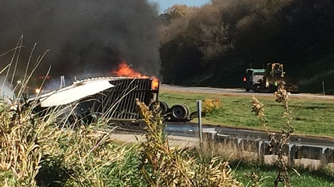 Two semitrailer drivers dead after I-90 crash